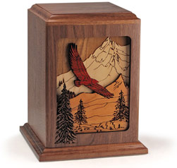 Dimensional Soaring Eagle Wood Urn $460